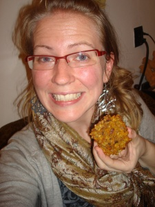 Because I am not writing a food blog I can take a silly picture of me and my meal!