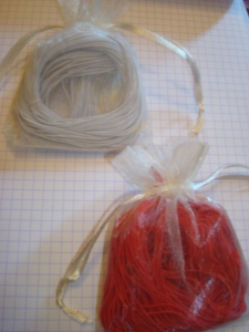 Thread in Red and White