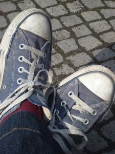 My shoes on the street!