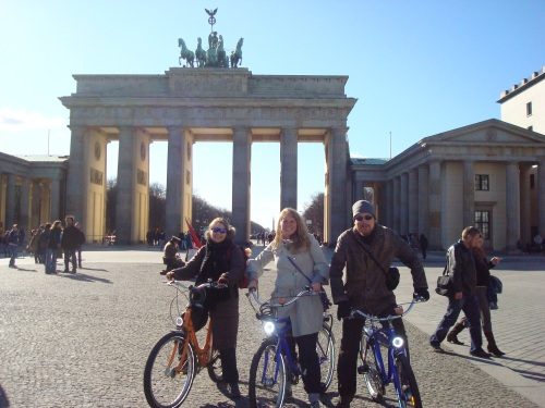 Three Bulgarian Fulbrighters at the Brandenburg Gate