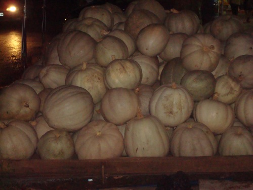 Pumpkins at Night